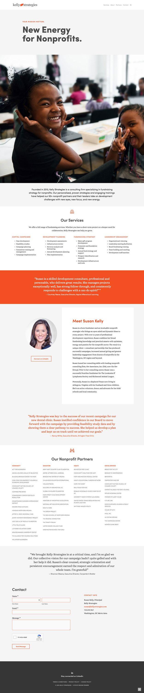 Kelly Strategies Website Design In 2020 Fundraising Strategies Website Design Linkedin Banner
