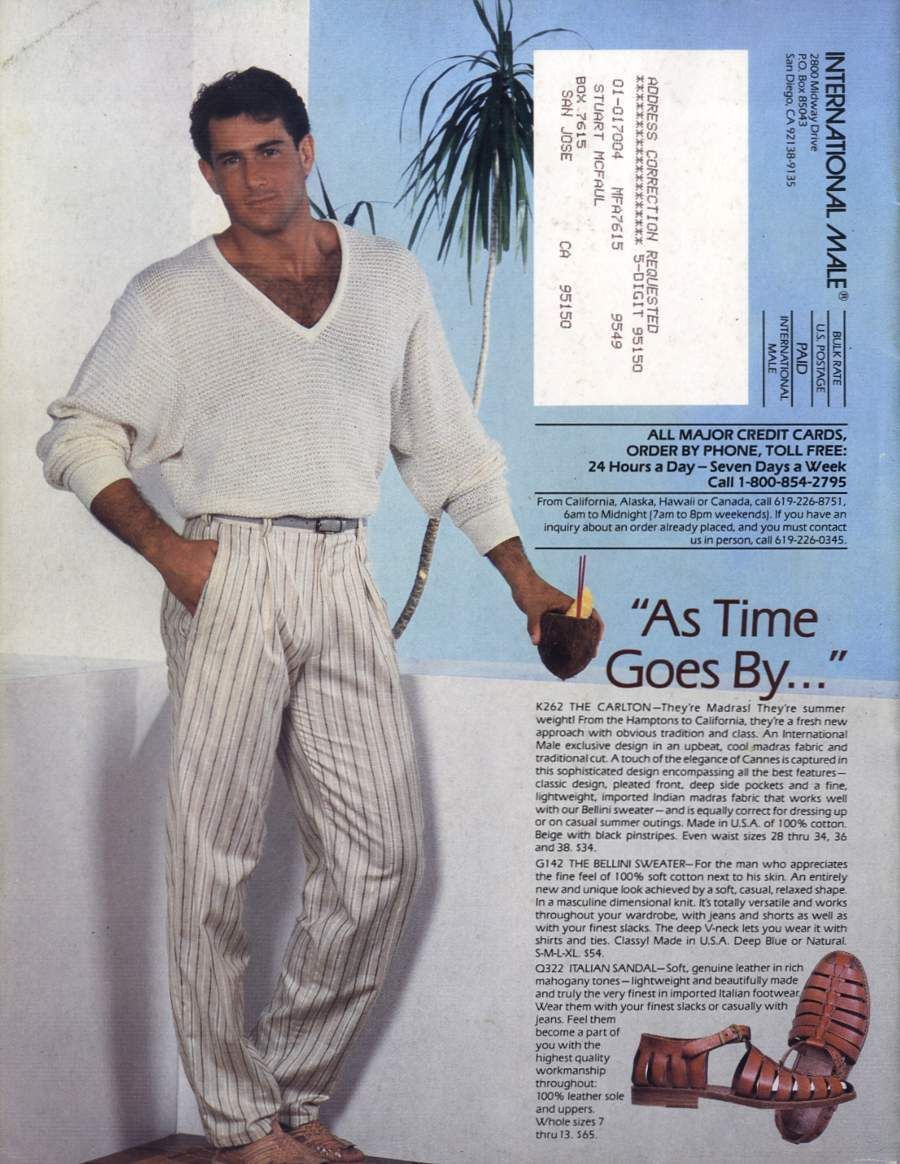 vintage early 90s mens fashion resort casual  c925b91df