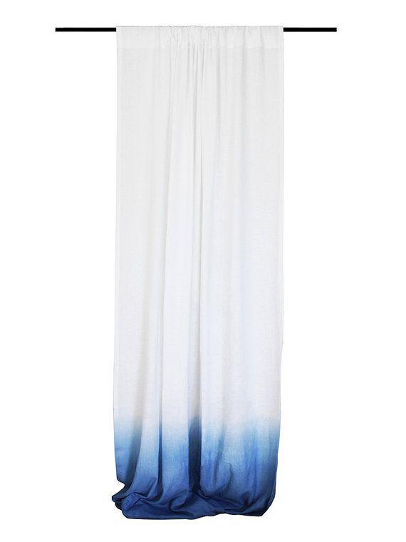 Drop Cloth Linen Curtains 22 Colors Linen Window Curtains