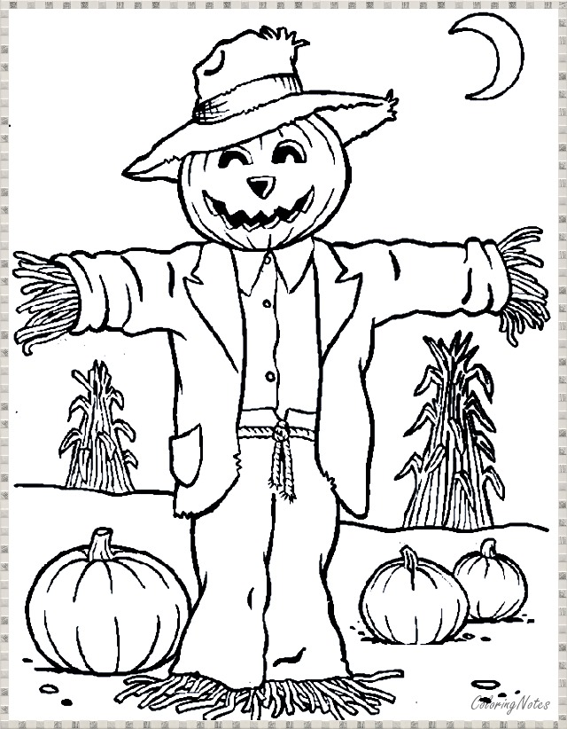 Halloween Scarecrow Coloring Pages For Kids Halloween Coloring Pages Free Halloween Coloring Pages Halloween Coloring