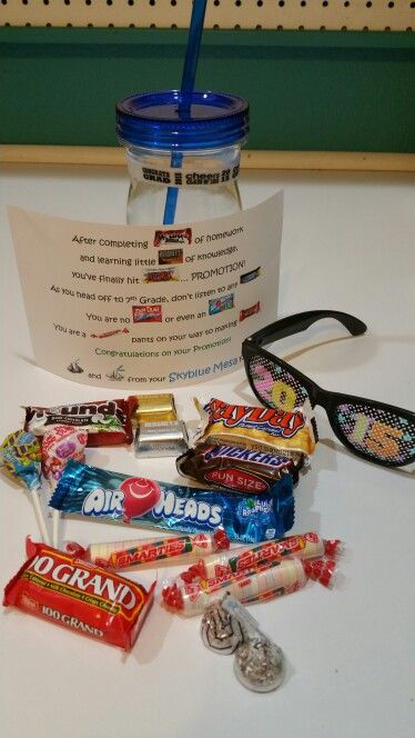 Elementary School Graduation Gift For Kids Candy Poem
