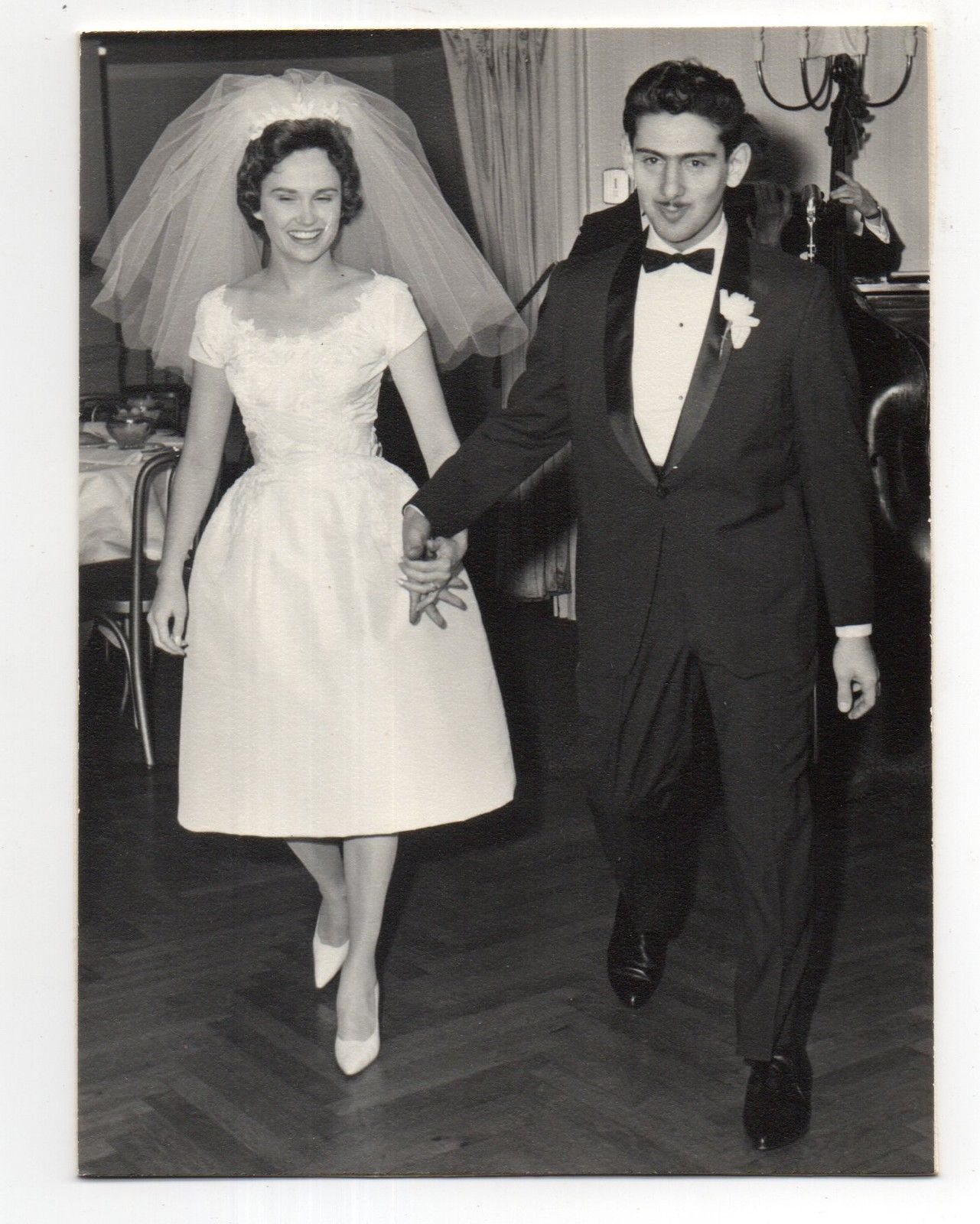 Vintage photo arrogant groom pretty bride wedding us nov ebay