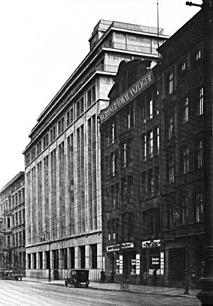 Zeitungsviertel Berlin The Main Publishing Houses Strasse Berlin Historische Fotos