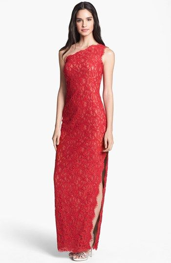 Tadashi Shoji One Shoulder Lace Gown | Nordstrom. I made my Barbie ...