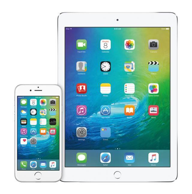 iOS 9 on iPhone and iPad - image copyright Apple Inc.