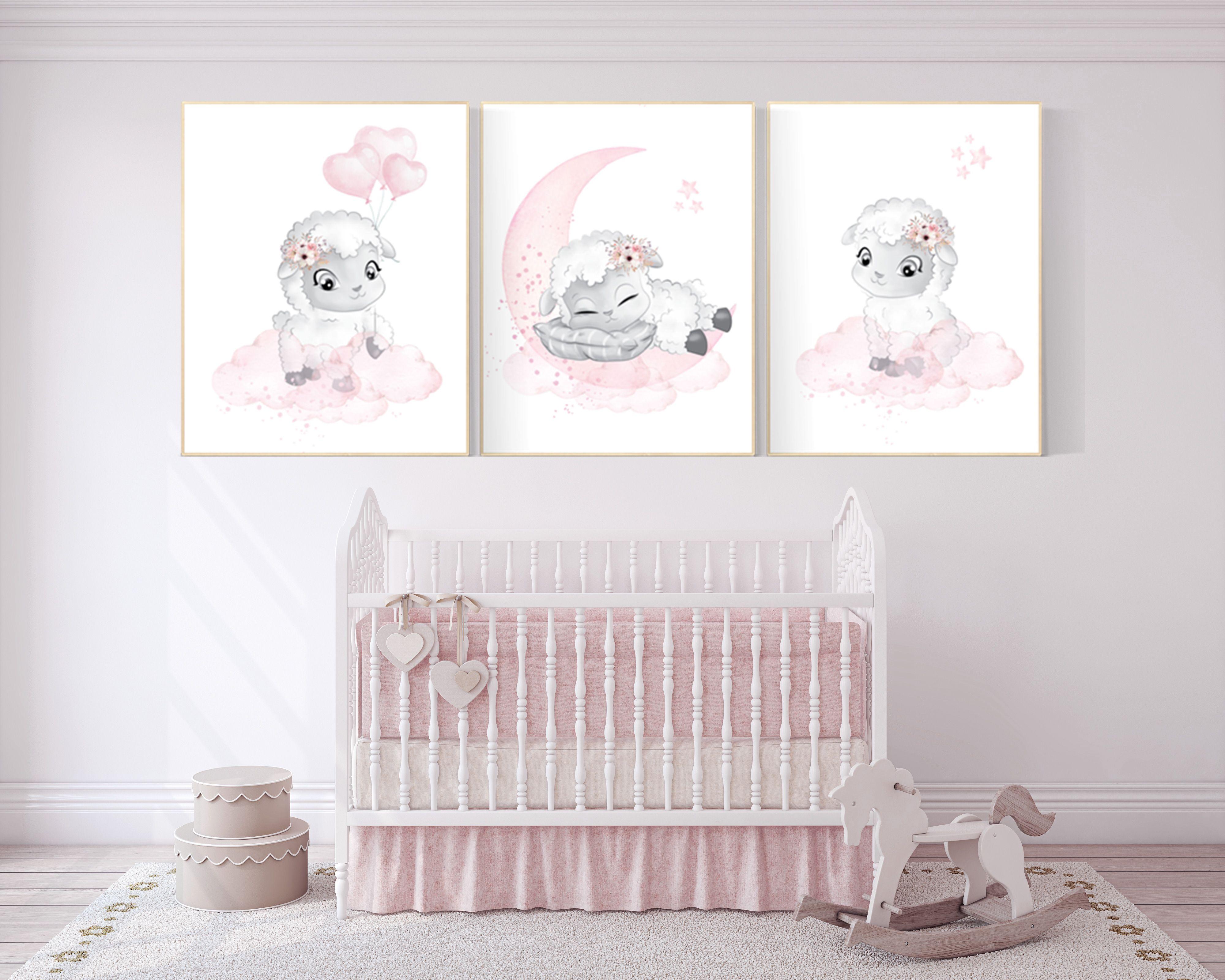 Sheep nursery decor, Nursery decor girl, nursery d