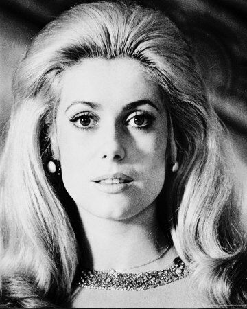 catherine deneuve. classic. tres chic. I am using this pic to inspire my bastille day celebration look.