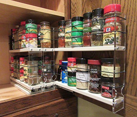 Spice Rack Nj Impressive Amazon Vertical Spice  222X2X11 Dc  Spice Rack  Cabinet Inspiration Design