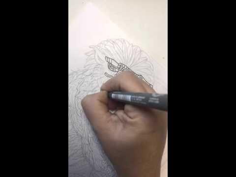 Yeti Artwork For Zen Legends Coloring Book Broadcast Via Meerkat 2016