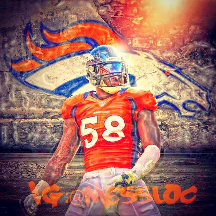 Von Miller In Beast Mode Denver Broncos Football Denver Broncos Baby Broncos Football