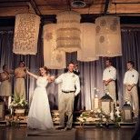 look at those lanterns!  from www.thenotwedding.com