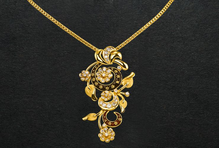 P C Chandra Jewellers Cute Jewelry Pendent Necklace Jewels