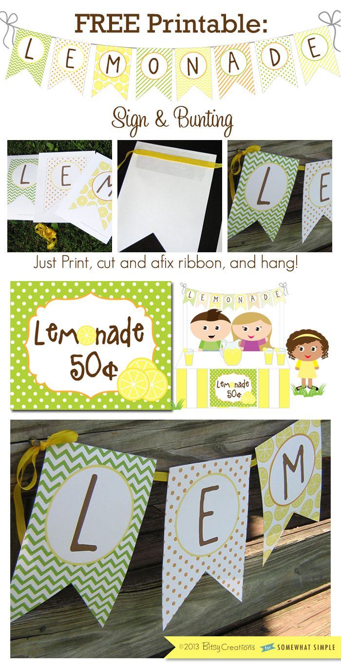 image about Lemonade Signs Printable named How in the direction of Produce a Lemonade Stand + No cost Printables No cost