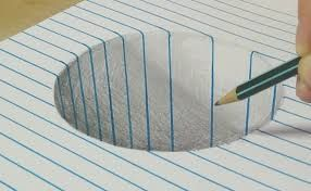 3d Drawing On Lined Paper : Ähnliches foto things i like illusions op art and