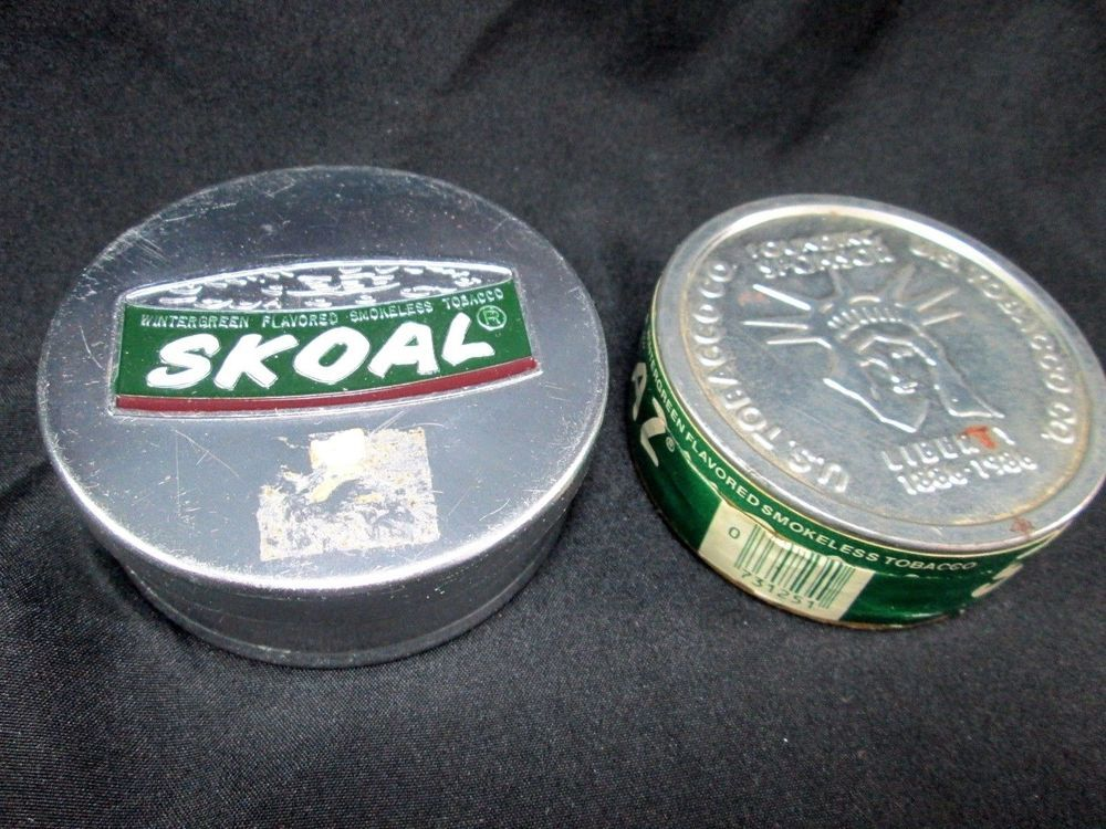 Skoal Tin and Empty Vintage Chew Tobacco box 1985 | Collectibles