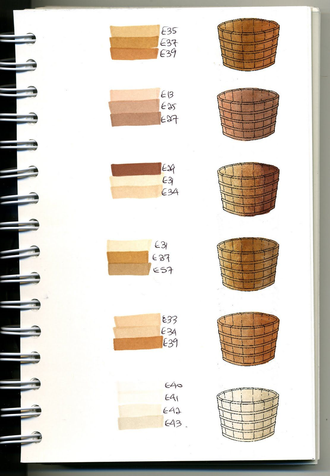 Cat\'s Creations: Copic Swatch Book... Need to do this for my markers ...