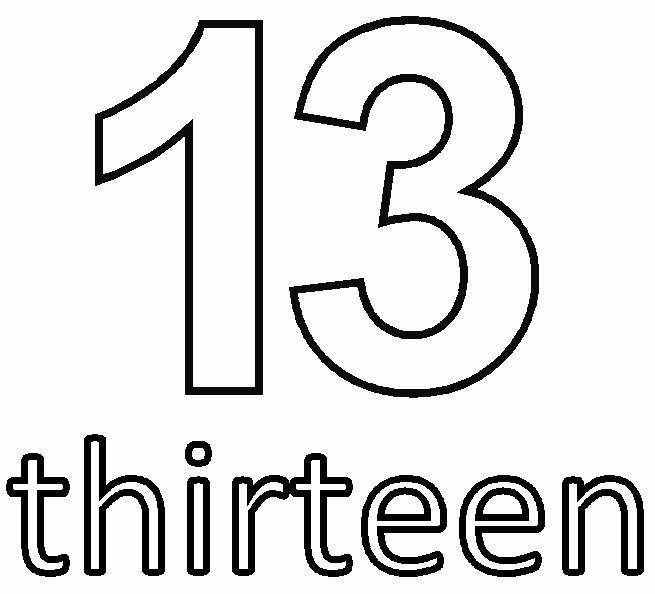 Number 13 Coloring Page Unique Coloring Pages Numbers 11 Thu 16