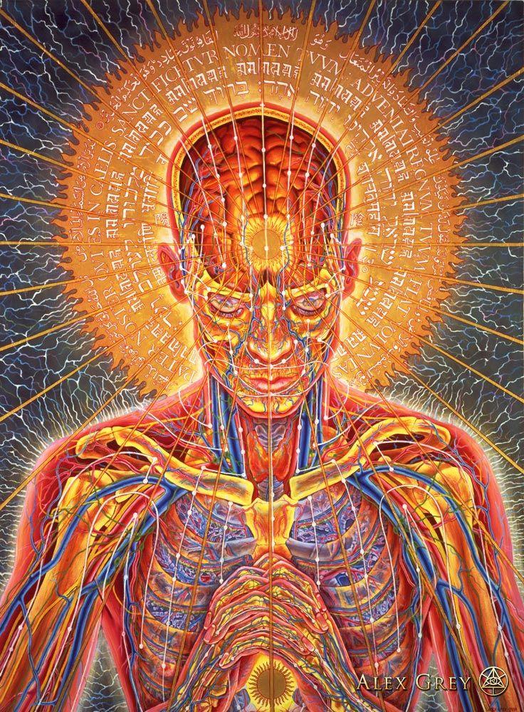 A arte espiritual e psicodélica de Alex Gray | Alex grey, Locura y ...