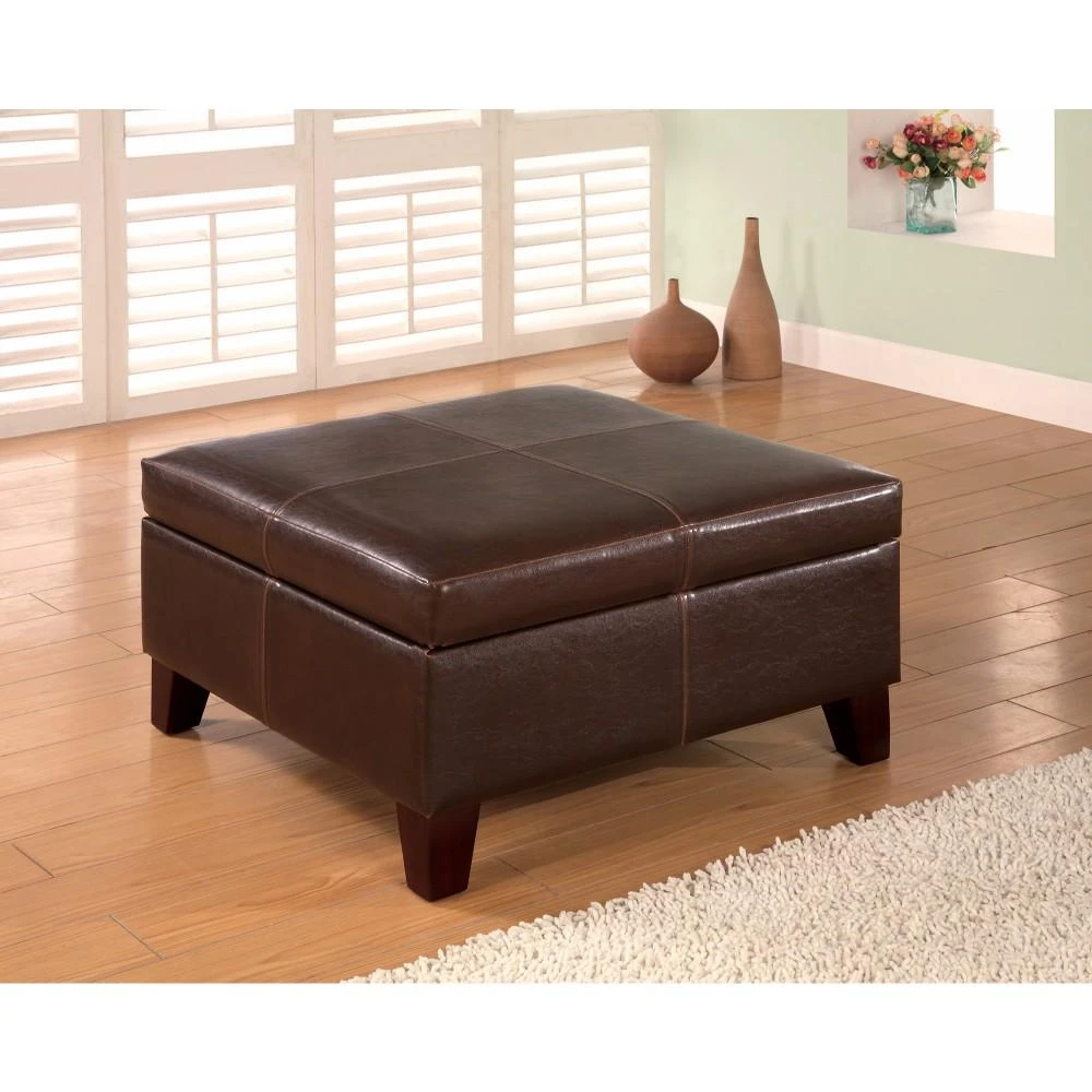 Best Seller Best Selling Mission Brown Tufted Leather Storage Ottoman Bench Online Toplikestore In 2020 Tufted Storage Bench Leather Storage Ottoman Storage Ottoman Bench