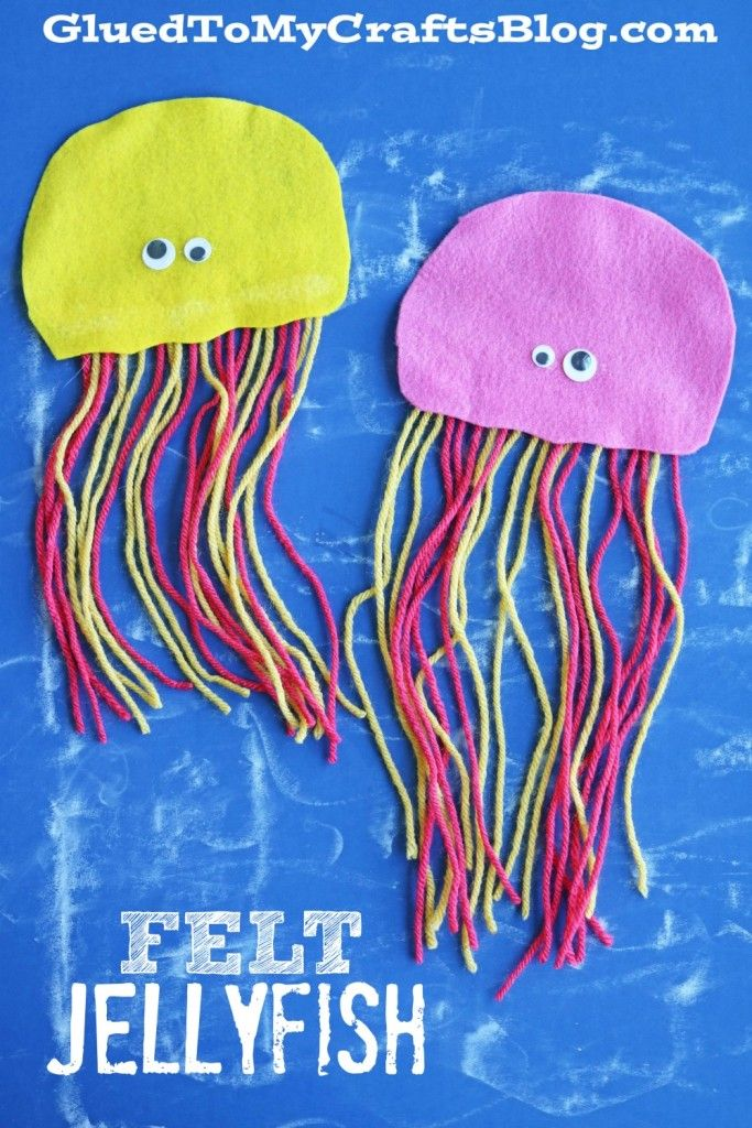 Felt Jellyfish Kid Craft Jellyfish Felting And Craft