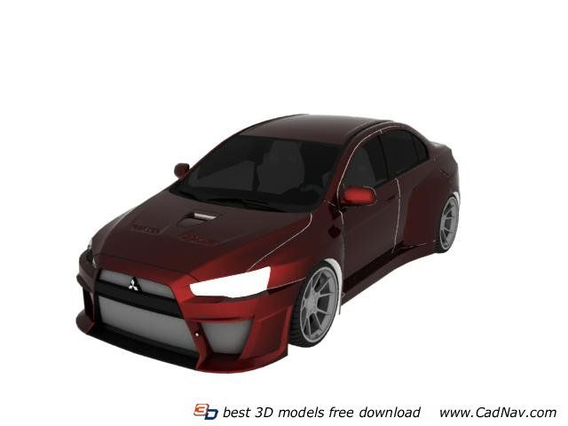3d Car Model Mitsubishi Racing Car Available In 3dsmax Vray Jpg Textures Included It Has 48839 Polygons And 50316 Vertices Ht Car 3d Model Car 3d Model