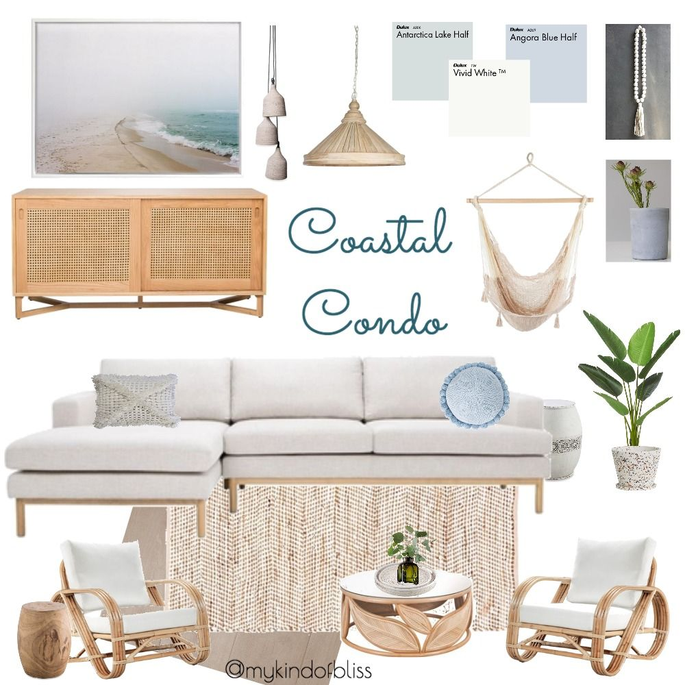 My KInd of Bliss Mood Board Coastal Condo/ Coastal Style