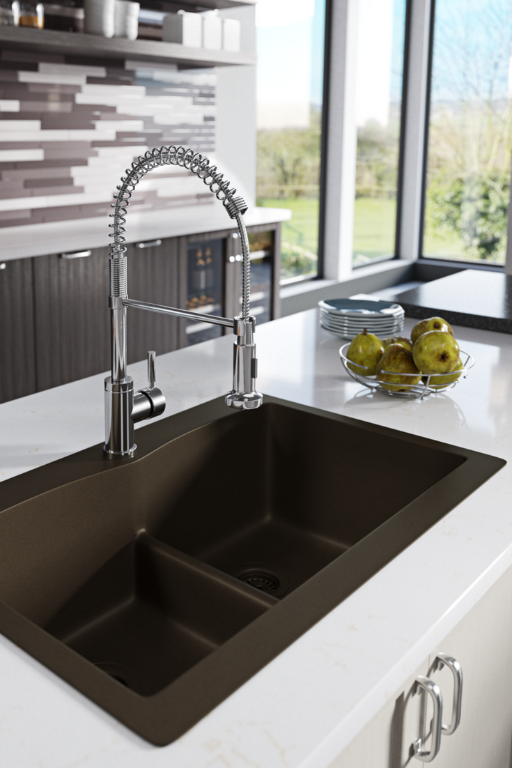 Divide Topmount Trugranite Sink