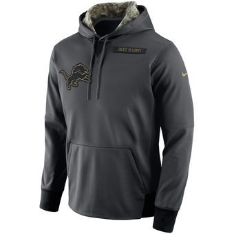 Nike Detroit Lions Anthracite Salute to Service Player Performance Hoodie   lions  nfl  detroit 90a717ca1