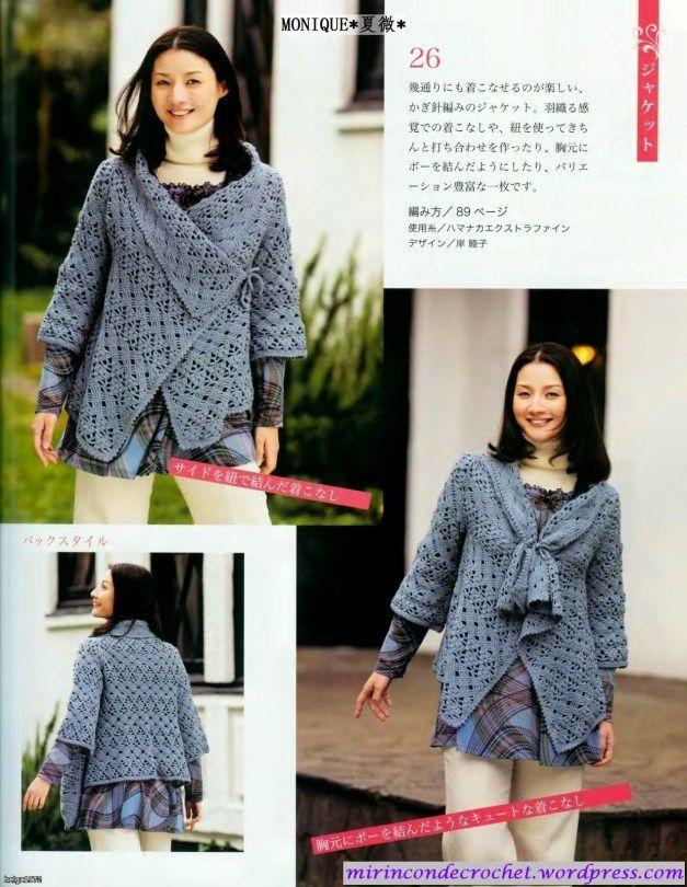 Jacket - free crochet pattern! | Häkeln Jacke Bolero Weste / crochet ...