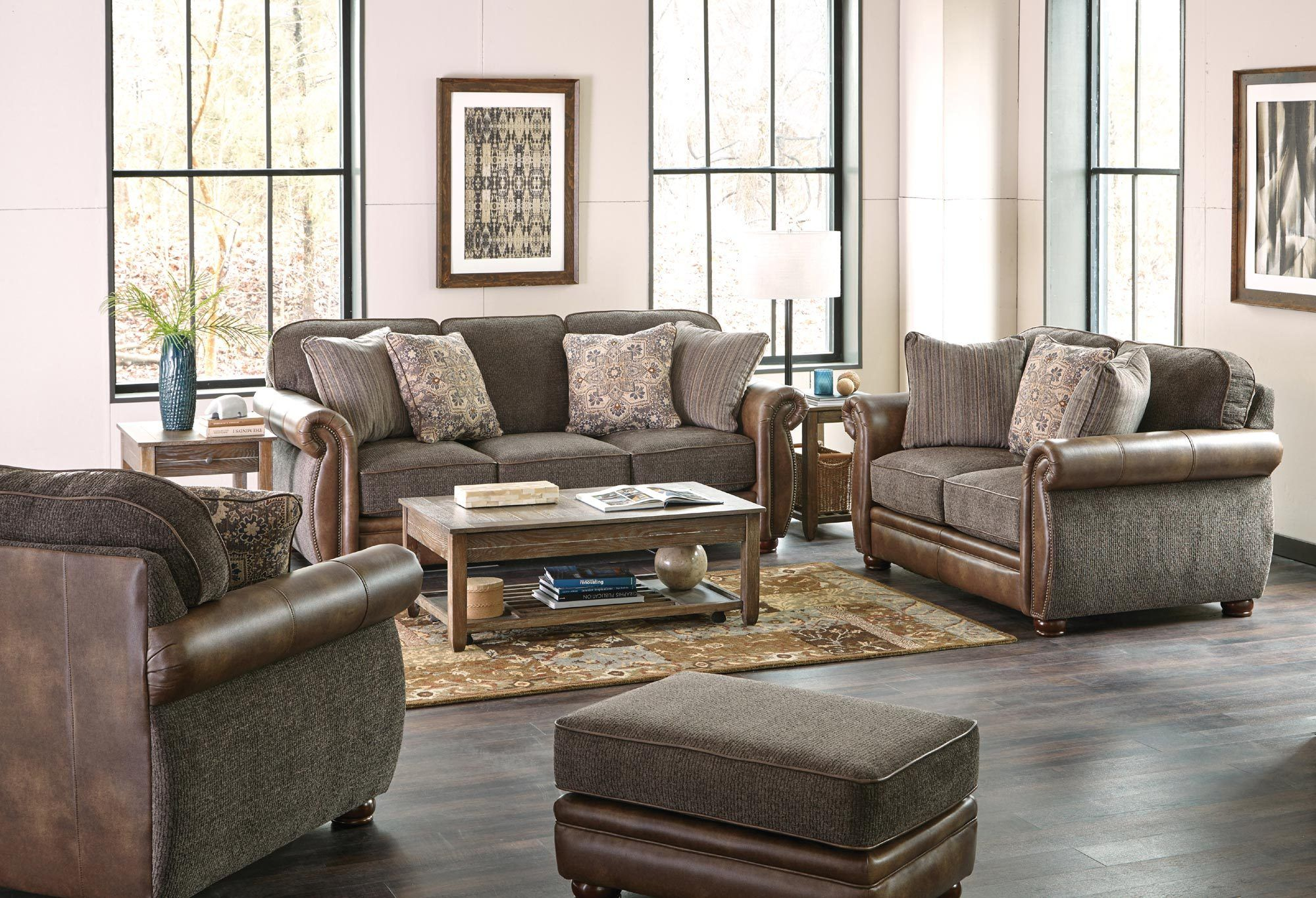Pennington Sofa Set in Pewter Jackson Furniture