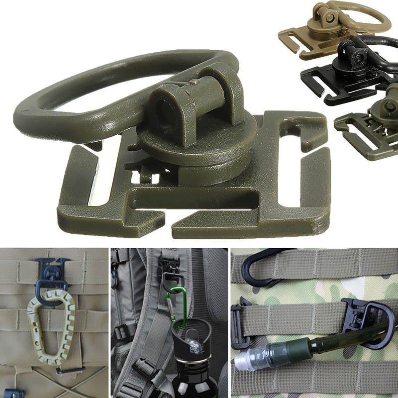 5PCS For Molle Strap Outdoor Hunting Backpack Bag Webbing Connecting Buckle Clip