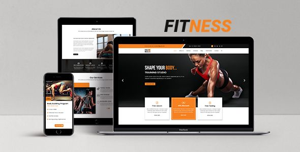 Fitness Html5 One Page Responsive Template Fitness Is One Page