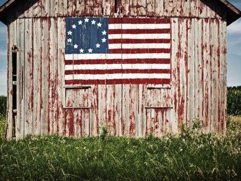 American Flag Painted On Barn Photographic Print By Owaki American Flag Painting Flag Painting American Barn