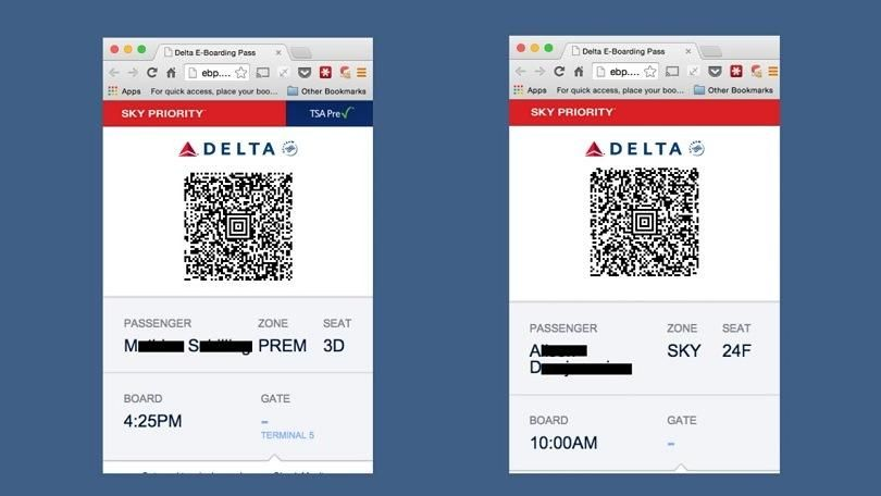 Delta Fixes Mobile Boarding Pass Bug Different airlines