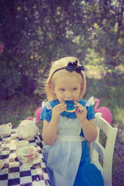 Alice in Wonderland Mad Hatter Tea Party theme kids photo shoot