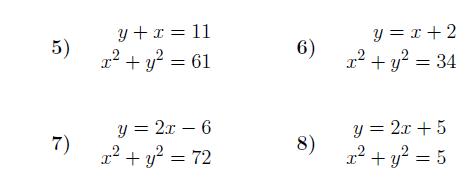 Simultaneous Equations – One Linear, One Quadratic worksheet ...