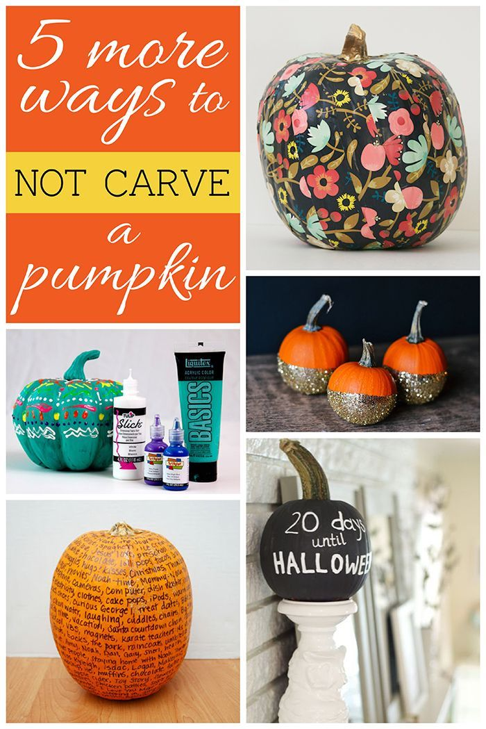 5 More Ways to NOT Carve a Pumpkin DIY Halloween, Carving pumpkins - ways to decorate for halloween