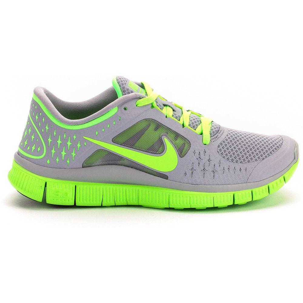 c138898768fe LOVE! Free Run +3 Women s Running Shoe (Wolf Grey Electric Green ...