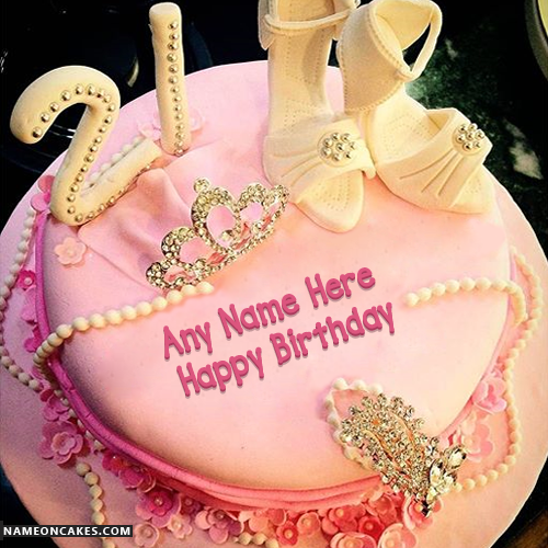 21st Happy Birthday Cakes For Girls With Name