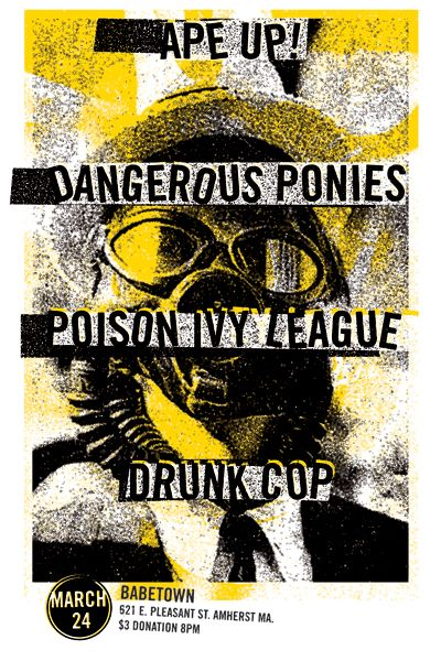 Simple, punk gig poster