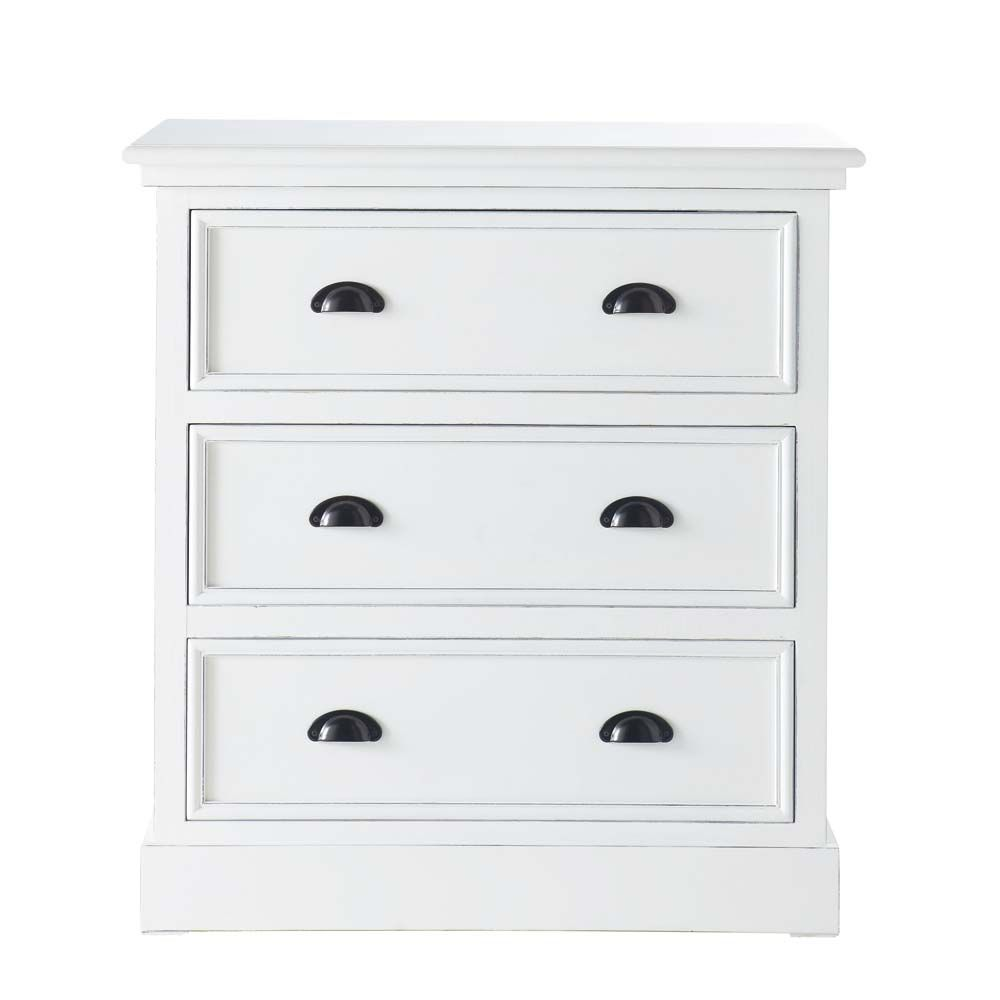 Wooden Chest Of Drawers In White W 80cm Chest Of Drawers Wooden