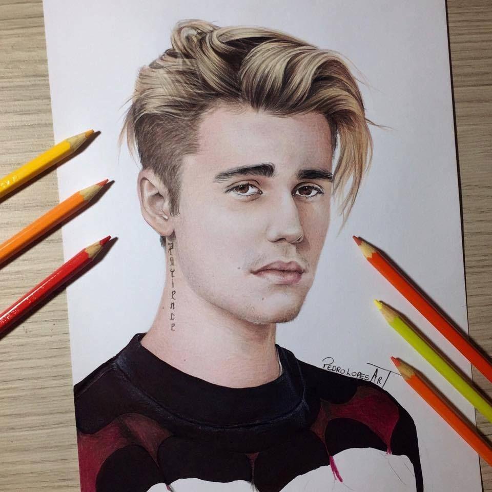 Singer Justin Bieber Justin Bieber Sketch Drawing People Celebrity Drawings