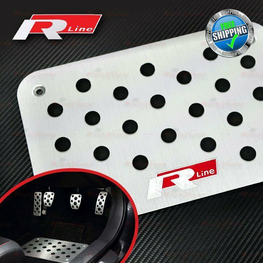 Aluminum Antiskid Floor Mat Carpet Pedal Plate For Vw Golf Gti Passat R Line Red Unbrandedgeneric Acura Type R Toyota Celica Carpet