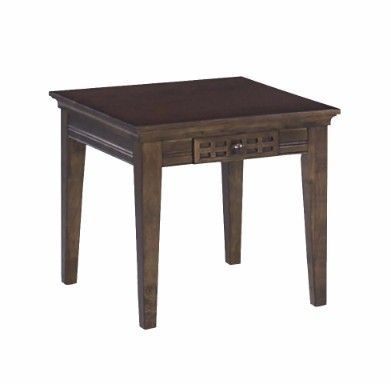 Casual Traditions End Table in Walnut  Progressive Furniture P107T02  Casual Traditions End Table in Walnut  Progressive Furniture P107T02