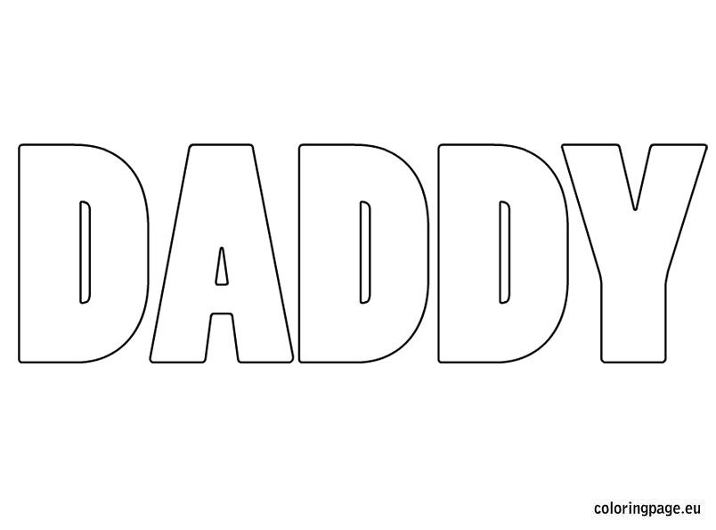 daddy coloring page fathers day Pinterest Coloring books and