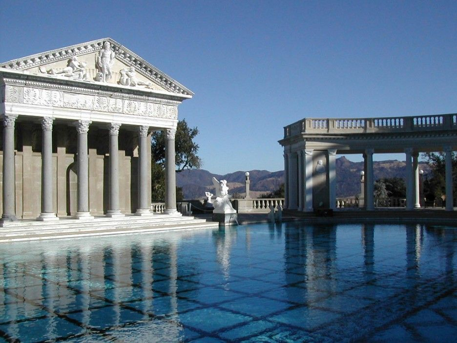 Extravagant Mansions With Pools Classic Greek Roman Style Design In Old  Style Applied In Modern Architecture