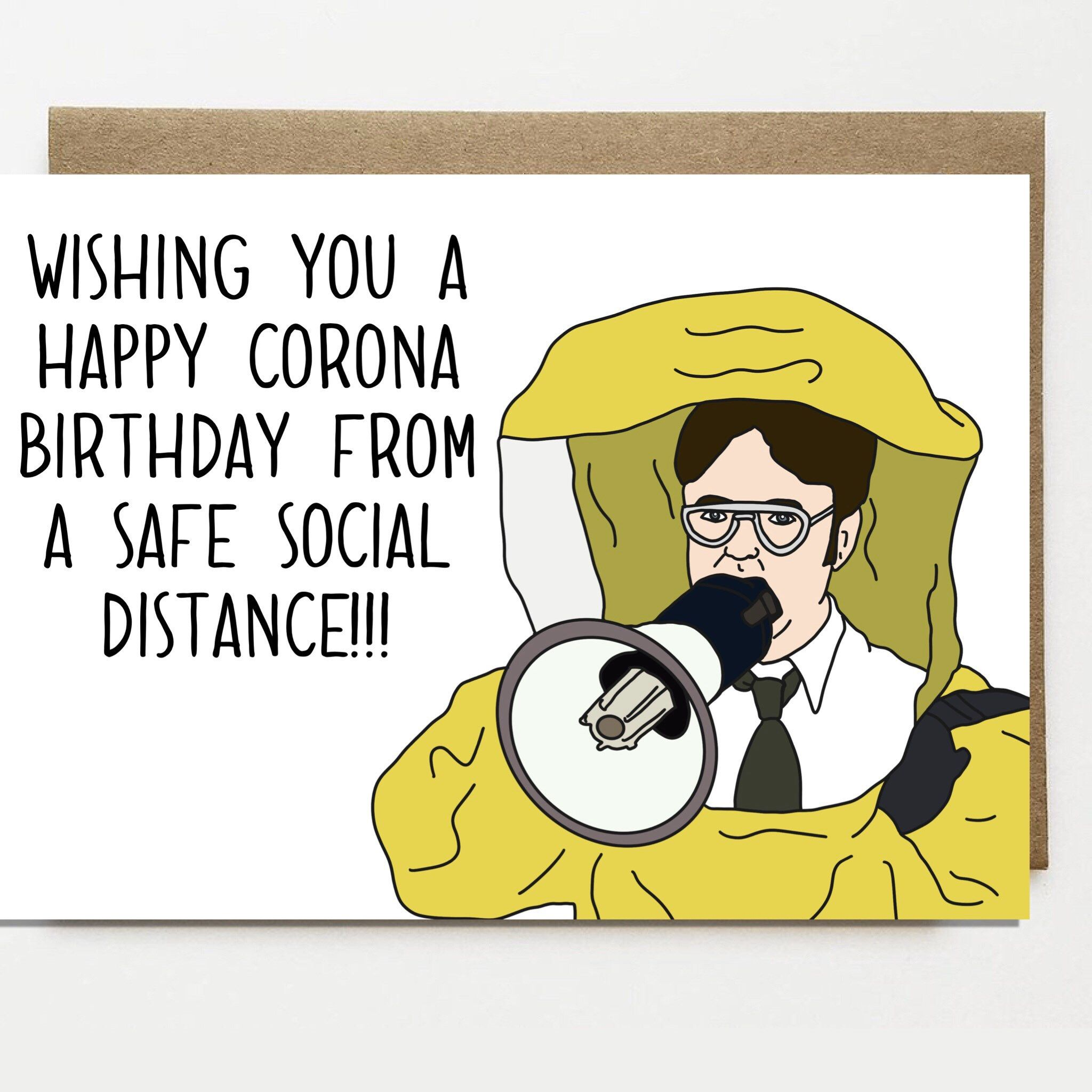 Funny Corona Birthday Card Card For Friend Greeting Card Etsy In 2020 Funny Happy Birthday Wishes Birthday Wishes For Friend Friend Birthday Quotes