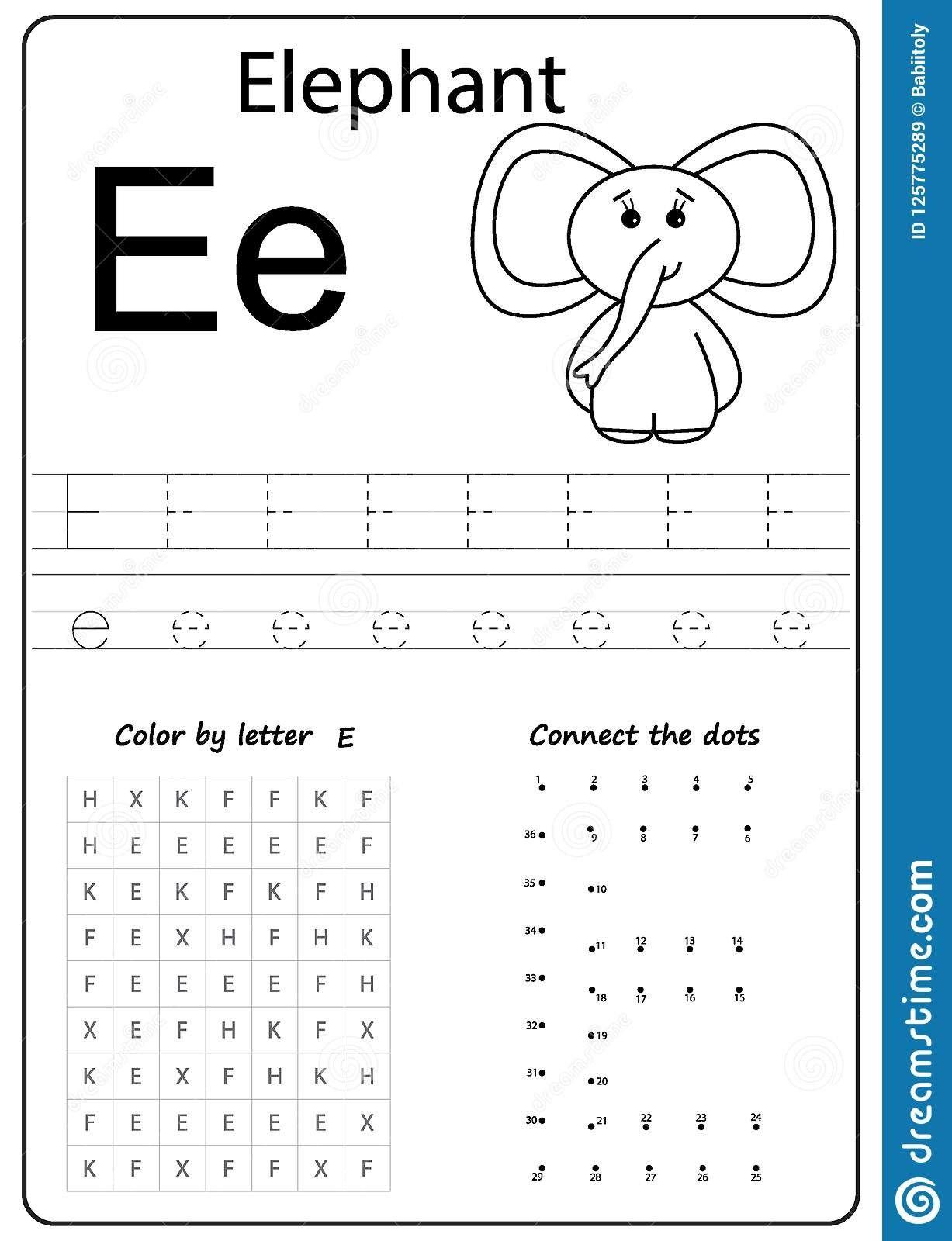 16 Prime Letter E Worksheets For Preschool Di Dengan