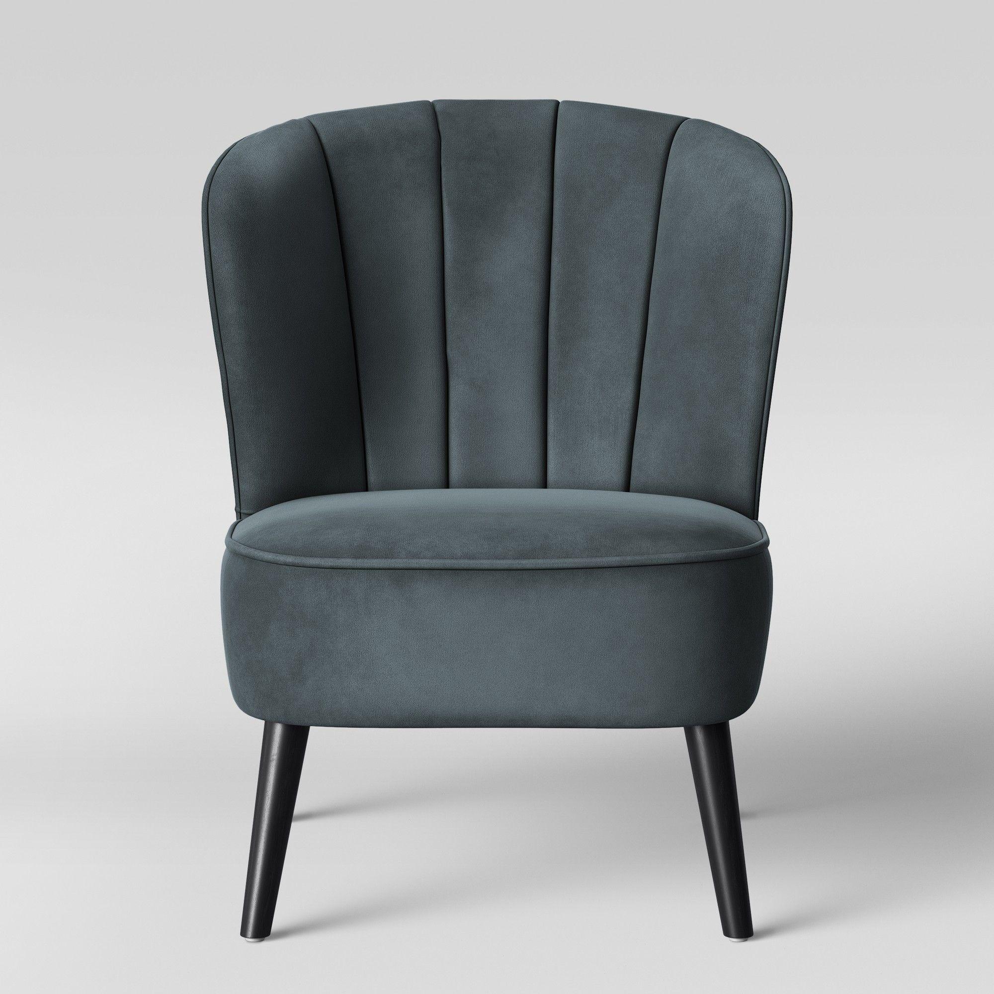 Best Primrose Chanel Tufted Accent Chair Velvet Blue 400 x 300