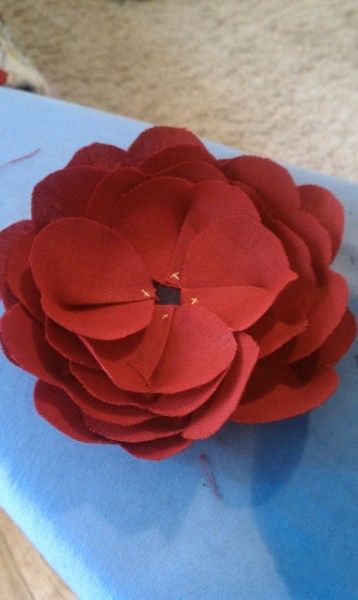 Fabric flower tutorial for Emerson Fry flowers